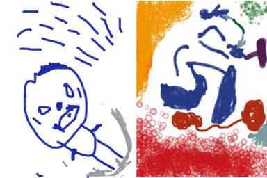 Las obras de arte de mi pequeño con Drawing App